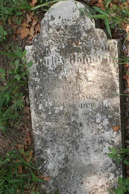 Charles Hamilton headstone (original)